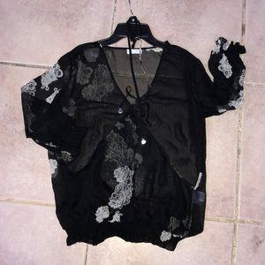 New York & Co- sheer blouse